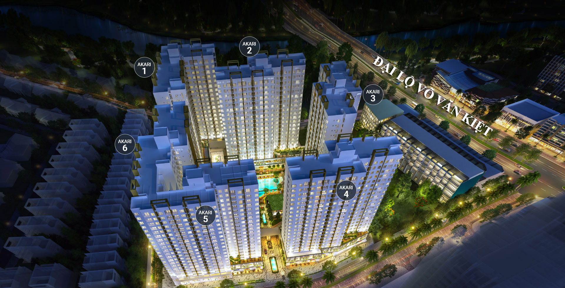 Phối cảnh dự án Akari city